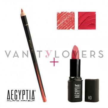Aegyptia Lipstick 08 e Lip Pencil 209