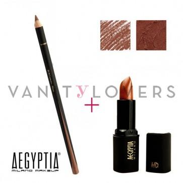 Aegyptia Lipstick 13 e Lip Pencil 213