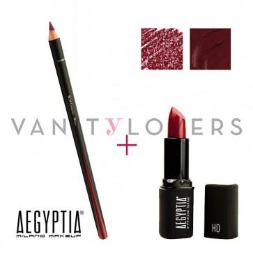 Aegyptia Lipstick 14 e Lip Pencil 202