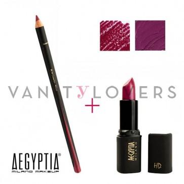 Aegyptia Lipstick 16 e Lip Pencil 208