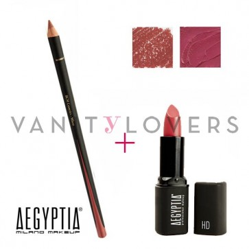 Aegyptia Lipstick 17 e Lip Pencil 206