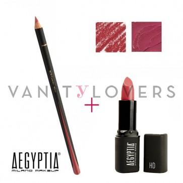 Aegyptia Lipstick 17 e Lip Pencil 211