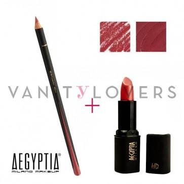 Aegyptia Lipstick 20 e Lip Pencil 211