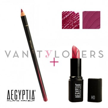 Aegyptia Lipstick 22 e Lip Pencil 208