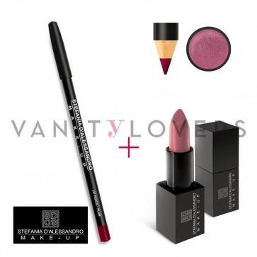 Stefania D'Alessandro Lipstick Metal Pink e Pencil Plum