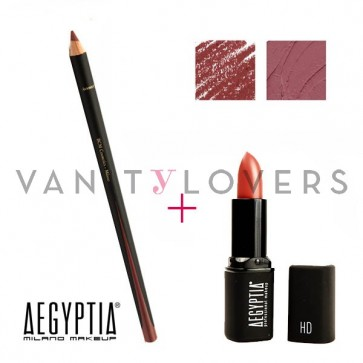 Aegyptia Lipstick 18 e Lip Pencil 210