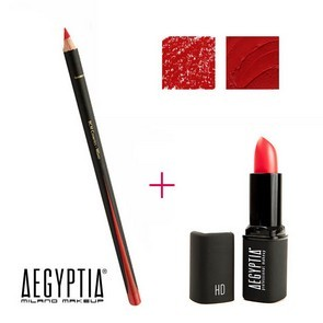 Aegyptia Lipstick 05 e Lip Pencil 201