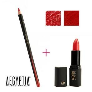 Aegyptia Lipstick 06 e Lip Pencil 201
