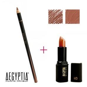 Aegyptia Lipstick 11 e Lip Pencil 213