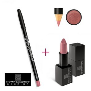Stefania D'Alessandro Lipstick Metal Rose e Pencil Natural