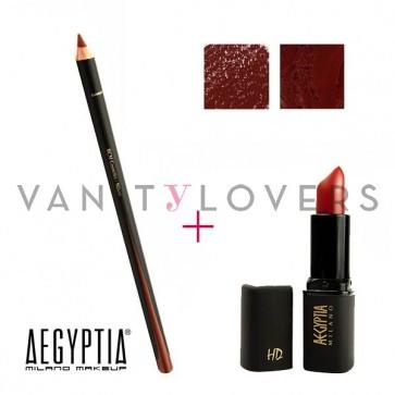 Aegyptia Lipstick 03 e Lip Pencil 205
