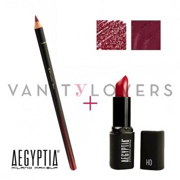 Aegyptia Lipstick 15 e Lip Pencil 202