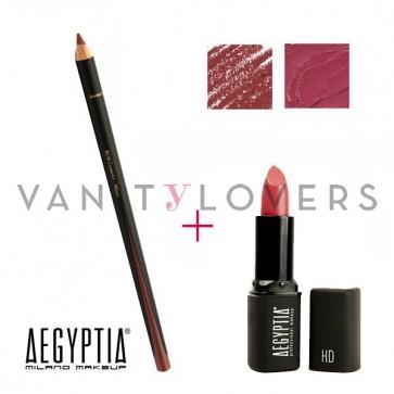 Aegyptia Lipstick 17 e Lip Pencil 210