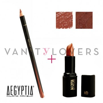 Aegyptia Lipstick 13 e Lip Pencil 203