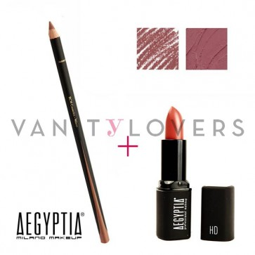 Aegyptia Lipstick 18 e Lip Pencil 215