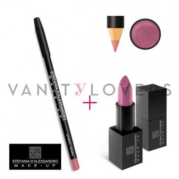 Stefania D'Alessandro Lipstick Metal Pink e Pencil Natural