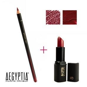 Aegyptia Lipstick 01 e Lip Pencil 202