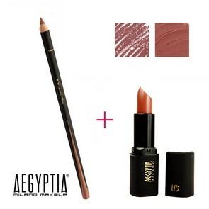 Aegyptia Lipstick 19 e Lip Pencil 215