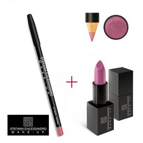 Stefania D'Alessandro Lipstick Metal Pink e Pencil Natural